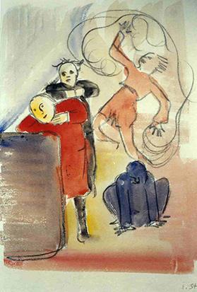 Mädchen im roten Pullover, 1934